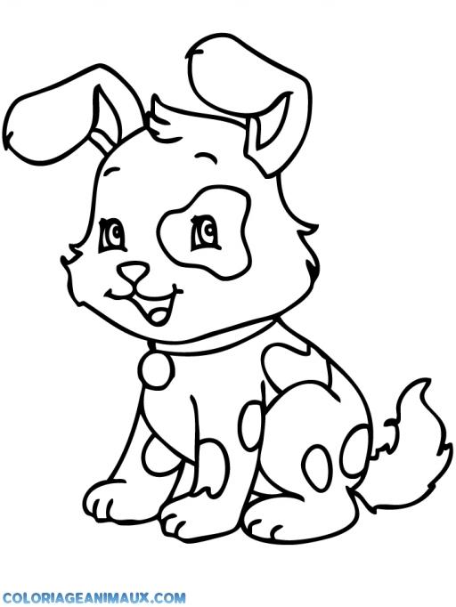 Coloriage chien qui ressemble un lapin imprimer - Coloriage chien ...