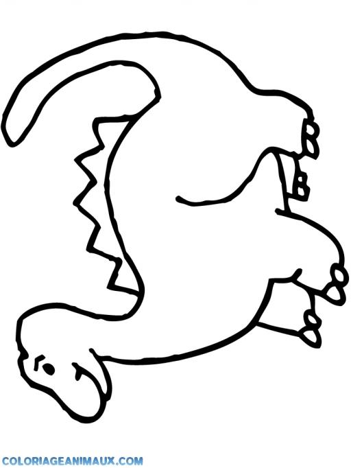 Coloriage Dinosaure Diplodocus Debout Imprimer