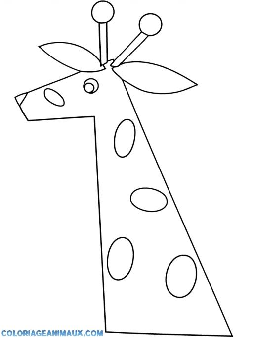 Coloriage Tete De Girafe A Imprimer.Coloriage Girafe Pour Les Enfants A Imprimer