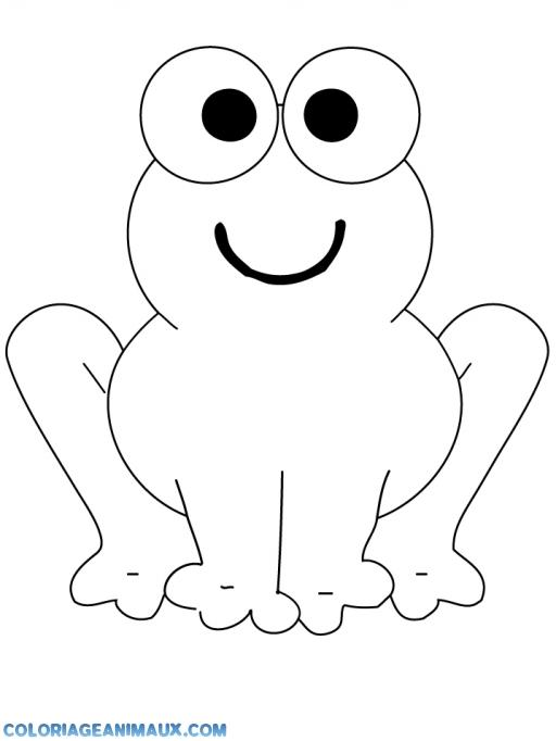 coloriage grenouille qui regarde dans les yeux imprimer. Black Bedroom Furniture Sets. Home Design Ideas