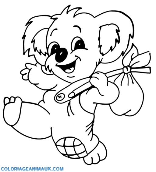 Coloriage Koala Heureux A Imprimer