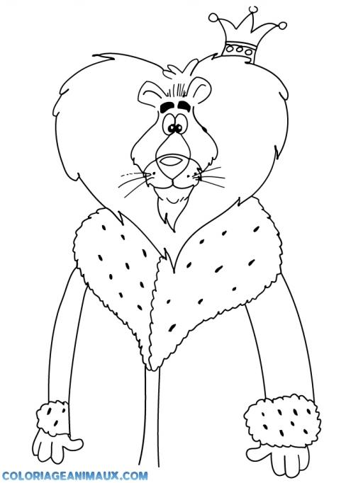 coloriage le roi lion souri pour enfants