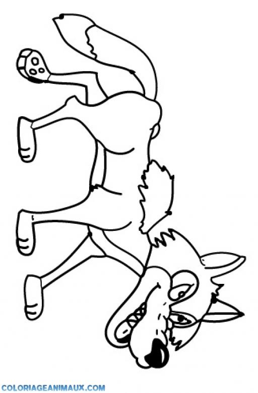 coloriage méchant loup pour enfants