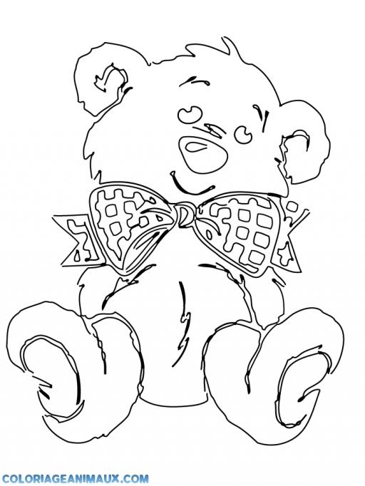 coloriage ours mignon pour enfants
