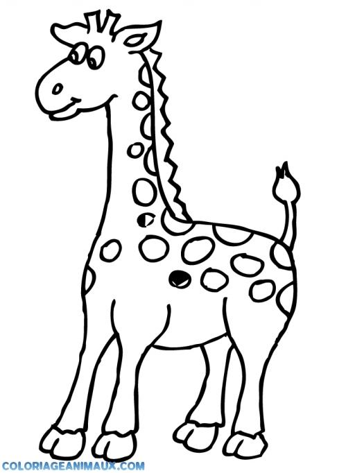Coloriage peluche en forme de girafe imprimer - Dessin girafe simple ...