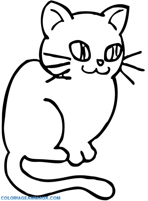 Coloriage petit chat mignon imprimer for Disegno gatto facile