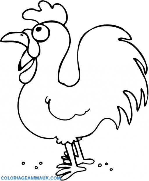 Populaire 🎨Coloriage poule rigolote à imprimer YE45