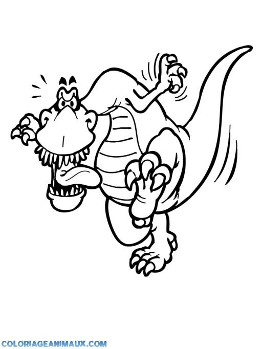 Coloriage t rex qui tire la langue imprimer - Tyrex coloriage ...