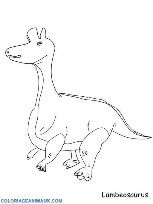 coloriage un dinosaure un peu spécial pour enfants
