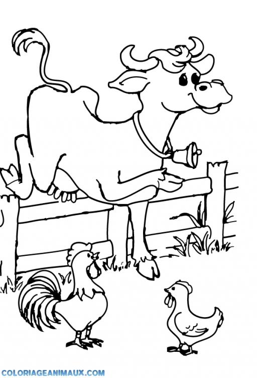 Coloriage Bebe Vache.Coloriage Vache Qui Saute Au Dessus De L Enclos A Imprimer