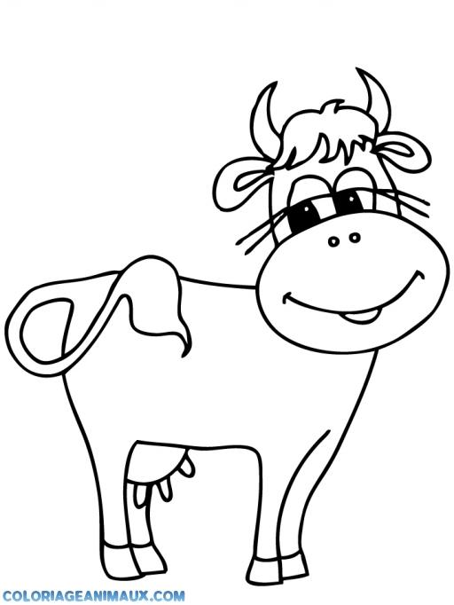 Coloriage Bebe Vache.Coloriage Vache Qui Sourie A Imprimer