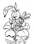 abeille qui ramasse le pollen