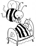 abeilles qui dorent