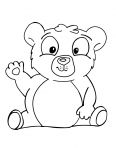 bébé ours fait un coucou