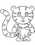 bébé tigre qui vient de manger