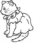 chaton mignon assis