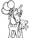 cheval avec des ballons