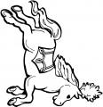 cheval déguisé qui court