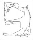 cheval fait un bisou à son maitre