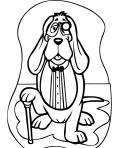 chien avec sa canne