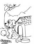 chien devant sa niche