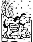 chien heureux sous la neige