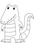 crocodile debout hors de l'eau