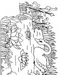 cygnes avec des fleurs