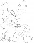 deux poissons font des bulles