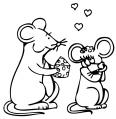 deux souris amoureuses