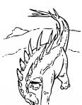 dinosaure avec des cornes