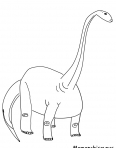 dinosaure avec un long cou