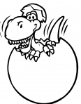 dinosaure dans un oeuf