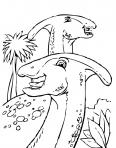 dinosaure parasaurolophus qui rigole