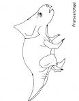 dinosaure protoceratops en train de courir