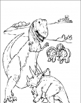dinosaure T-rex contre tricératops