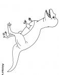 dinosaure T-rex qui marche