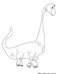 diplodocus avec une grosse tête