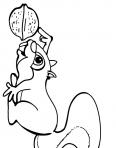 écureuil rigolo avec une noisette