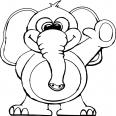 éléphant fait coucou