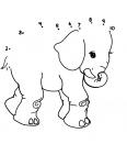 éléphant, points à relier