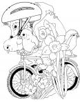 hérisson fait du vélo