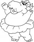 hippopotame avec une jupe
