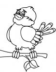 joli oiseau sur un arbre