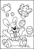 Lapin de pâques heureux