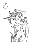 licorne qui attend la princesse