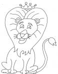 lion avec une belle couronne
