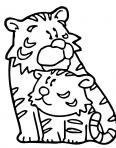 maman et bébé tigre
