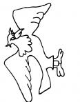 oiseau montre ses ailes