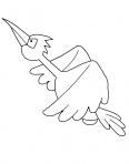 oiseau vole à toute vitesse